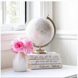Isaac Mizrahi pink white flower vase new in box